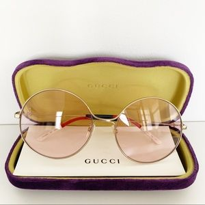 🌸 GUCCI Sunglasses Round Vintage Look Glasses New